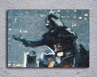 Star Wars Darth Vader Inspired Framed Painting Print