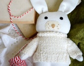White soft toy babys first christmas stocking filler stuffed animal bunny toddler toy the white rabbit toy