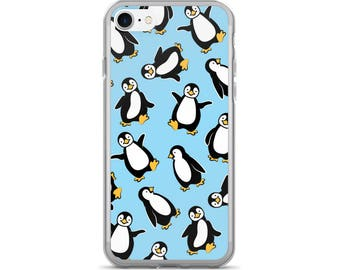 Penguin iPhone Case, Phone Case Penguin, Penguin Phone Case, Protective iPhone Case, iPhone 7 Case, iPhone 6 Case, iPhone 5 Case, Penguin