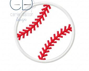 Baseball Applique Design, Baseball Embroidery Design