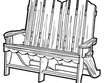 Love Seat Chair #168 - Woodworking / Craft Pattern