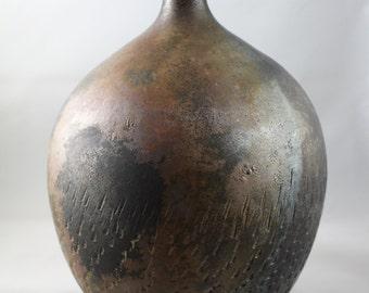 Raku Bottle Neck Vase
