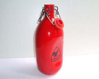 Gourd, the GRAND TETRAS, aluminium, enamelled red, Made in France, camping, picnic, hike, vintage, design.