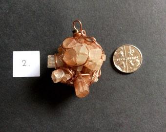 """Aragonite """"Sputnik"""" pendant"""
