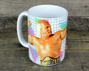 Hulk Hogan Wrestler MUG boyfriend gift WWF Raw WWE tna Terry Bollea fathers day gifts Greatest heavyweight champion Prowrestling