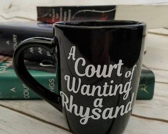 A Court of Wanting a Rhysand Mug, ACOMAF, acowar, Sarah j Maas, feyre, bookish, Bookish mug, Night Court, Rhysand, ACOTAR, Bookstagram, BF