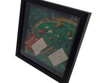 Harry Potter Chamber of Secrets Board Game Framed Upcycled Art - Quidditch