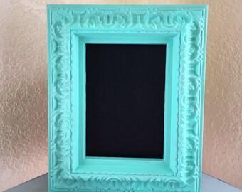CLEARANCE: Personal sized chalkboard, Sea Green Frame