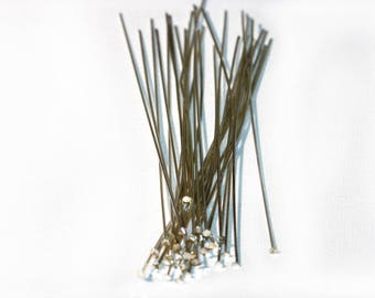 Head Pins Stainless Steel Extra Long 3 inch Headpins 30 Pieces