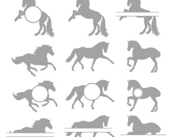 Horse Svg Files Monogram  frames, Horse Svg, Horse Riding Svg Files,cowboy svg, Horse Cut File Design, Silhouette, Cricut