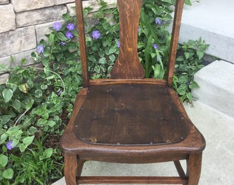 Antique Trifid Foot Chair ~ Clawfoot Chair - Cabriole Legs ~ Hardwood Chair - Wood Dining, Kitchen, Desk or Accent Chair
