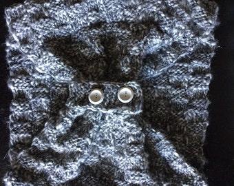 Subtle Sparkle Gray Infinity Scarf