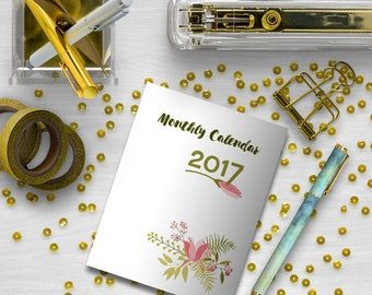 A6 Monthly Insert, Printable Calendar, Traveler's Notebook, Planner Inserts, Date Book, Printable Inserts, Organize, Notebook, Printable PDF
