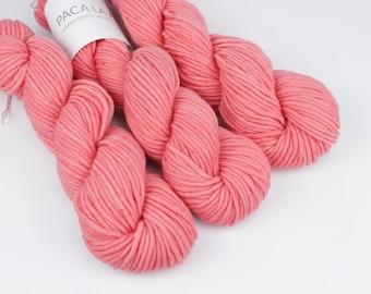 Coral Hand Dyed Yarn - Aran 50gr