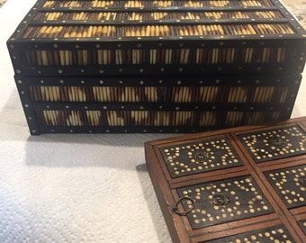 Antique Porcupine Quill Box THE BEST