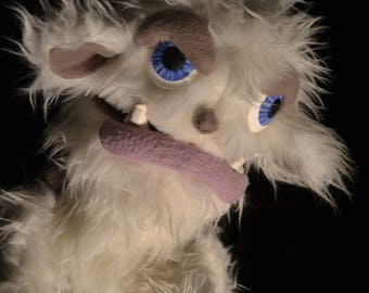 OOAK Furry monster Proffesional Hand puppet