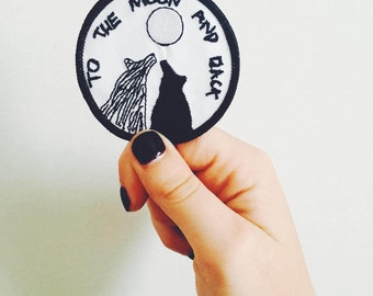 "Patch ""to the moon and back"""