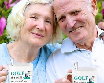 Golf Duffer Funny Novelty Mug Avid Golfers Best 4 Dad Brother Boss