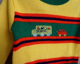1960's School Bus Sweater