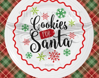 Christmas SVG Cut File | Cookies for Santa svg | Silhouette svg | Cricut svg | Christmas SVG design | Christmas SVG sayings