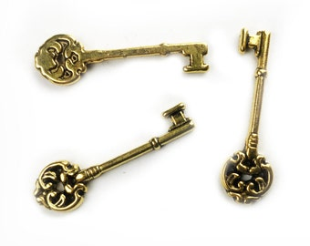 5 pcs Gold Key  - medium
