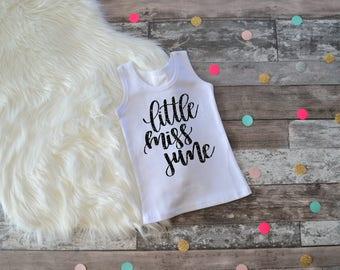 June Birthday Shirt, Little Miss June, Miss June Shirt, June Birthday Shirt, June Birthday Outfit, Miss June, Birthday Month Shirt