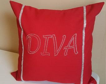Rhinestone Diva Decorative Pillow