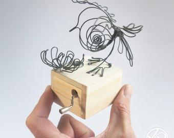 Boite a musique - Music box Sculpture Fil de fer