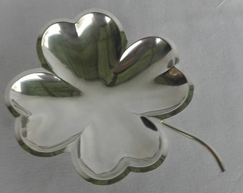 Small Metal Vintage Serving plate