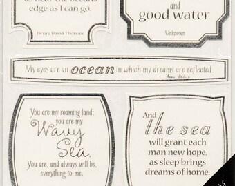 Beach Summer Vellum Quotes  Sticko  Scrapbook Stickers Embellishments Cardmaking Crafts