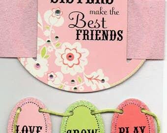 Sisters Soft Spoken Scrapbook Stickers Embellishments Cardmaking Crafts Me & My Big Ideas