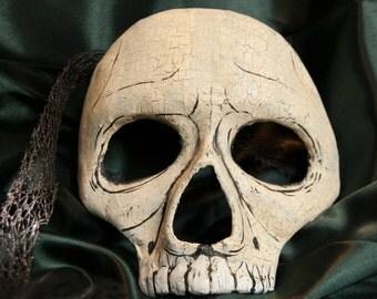 Venetian Style Half Skull Mask