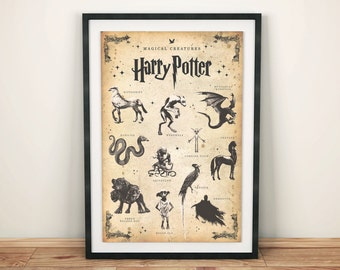 Harry Potter Magical Creatures Inspired Print