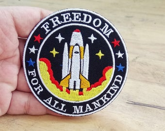 NASA Freedom Spaceship from Armageddon - Iron on patch