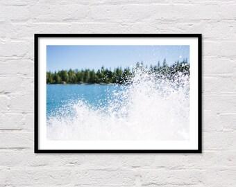 Lake Print, Blue Wall Art, Lake Photo, Adventure Print, Printable Wall Art, Lake Tahoe, Adventure Photography, Blue Water Print, Download