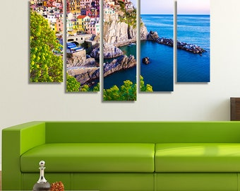 5 Piece Wall Art, 5 Piece Canvas, Italy Print, Italy Photography, Mediterranean , Mediterranean Décor, Italian Décor, Italian Decorations