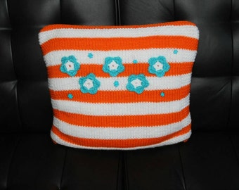3D Flowers Knitted Pillow