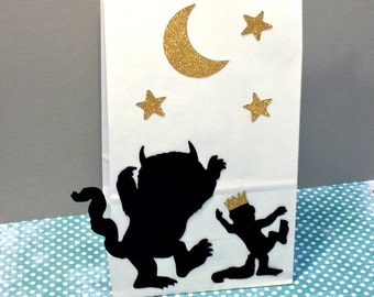 Where the Wild Things Are Party Bags, Favor Bags, Gift Bags, Goody Bags, Where the Wild Things Are Party Supplies