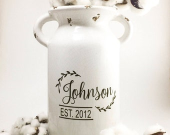 Farmhouse | Farmhouse style decor | vintage milk can | distressed| vintage milk jug| Rustic Milk jug |Wedding Gift |housewarming gift | gift