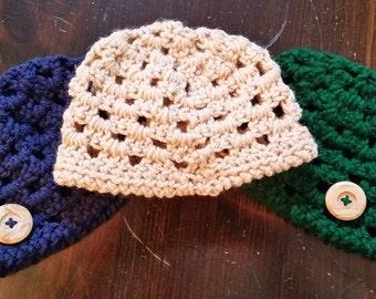 Crocheted Infant Beanie