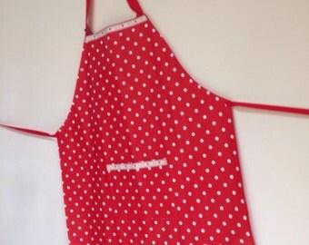 Women's Red Spotty Apron
