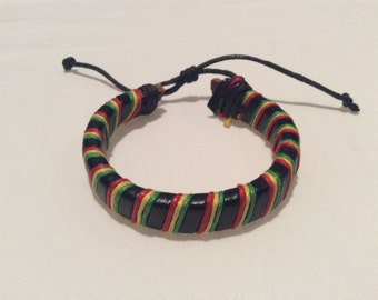 Rasta Multi color Bracelet Friendship bracelet Reggae Surfer band