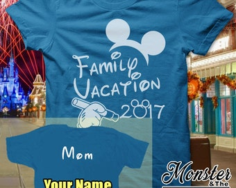Personalized Disney Family Vacation 2017 T-Shirt