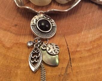 Handmade Jewelry, Vintage spoon bracelet, charm bracelet, antique bracelet, birthdays,
