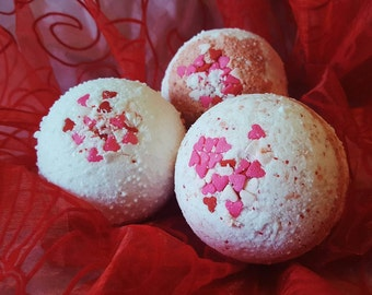Valentine's Cupid Peppermint Fizzy Bath Bomb