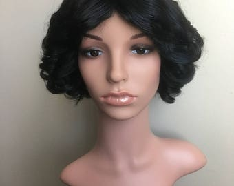 New Made To Order Snow White Inspired Disney Princess Cosplay Wig in True Black