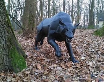 Dire Wolf - sheet metal art