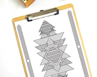 Tribal Print Coloring Page - 1