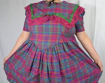 Plaid Southern Bell Dress