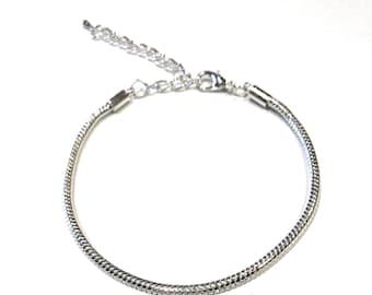 Bracelet Findings, European Bracelet, Snake Chain Bracelet, Bracelet Making, Silver Bracelet, Jewelry Findings, Bracelet Findings, Diy
